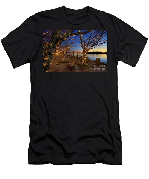 Sunset Over The Wilmington Waterfront In North Carolina, Usa Men's T-Shirt (Athletic Fit)