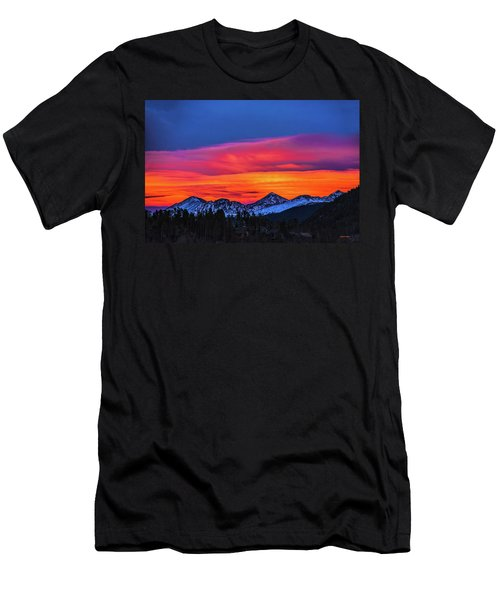 Sunset Over Torreys And Grays Peaks Men's T-Shirt (Athletic Fit)