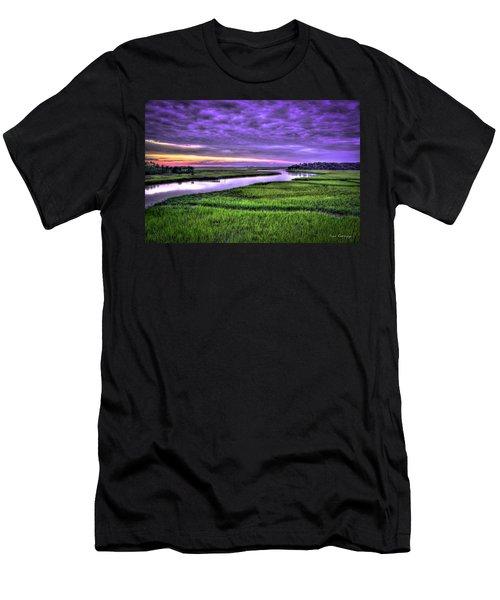 Sunset Over Turners Creek Savannah Tybee Island Ga Men's T-Shirt (Athletic Fit)