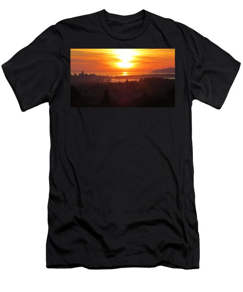 Sunset Over Vancouver Men's T-Shirt (Athletic Fit)