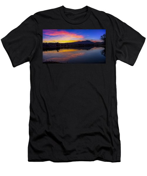 Sunset Panorama Of Mt. Tam And Richardson Bay Men's T-Shirt (Athletic Fit)
