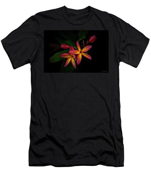 Sunset Plumerias In Bloom #2 Men's T-Shirt (Athletic Fit)