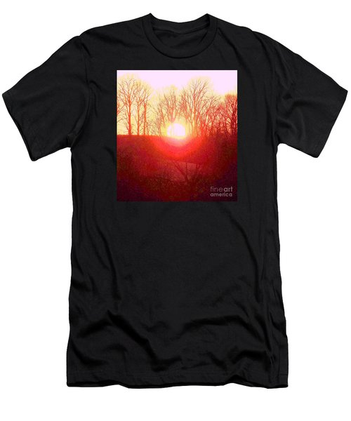 Sunset Red Yellow Men's T-Shirt (Athletic Fit)