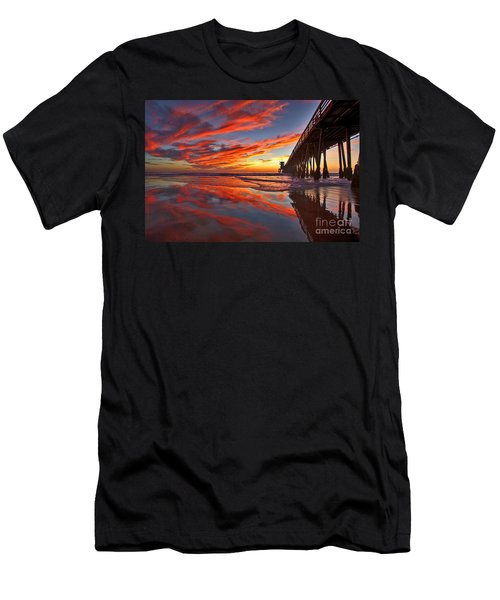 Sunset Reflections At The Imperial Beach Pier Men's T-Shirt (Athletic Fit)