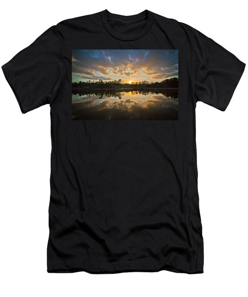 Sunset Reflections Men's T-Shirt (Slim Fit) by Linda Unger