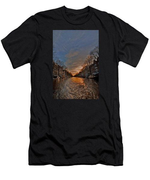 Sunset Ripples Men's T-Shirt (Athletic Fit)