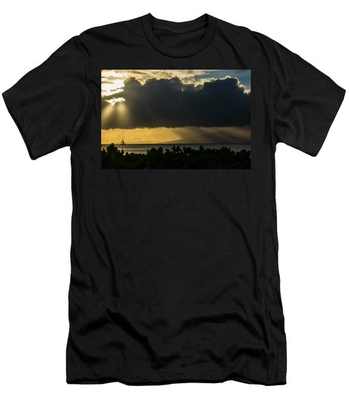 Men's T-Shirt (Athletic Fit) featuring the photograph Sunset Sail by Colleen Coccia