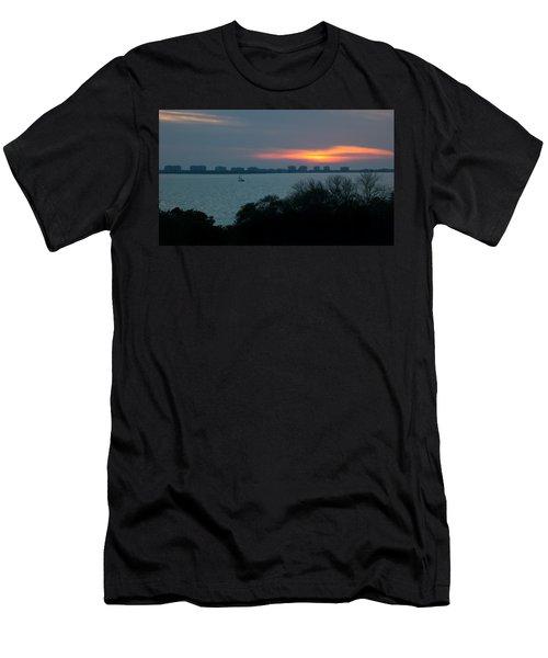 Sunset Sail On Sarasota Bay Men's T-Shirt (Athletic Fit)