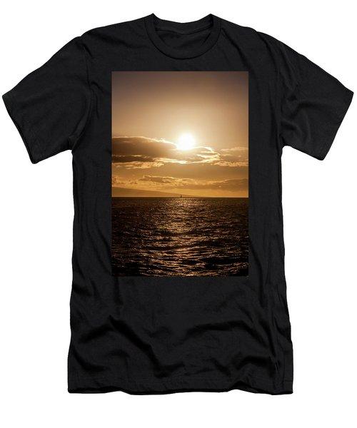 Sunset Sailboat Men's T-Shirt (Athletic Fit)