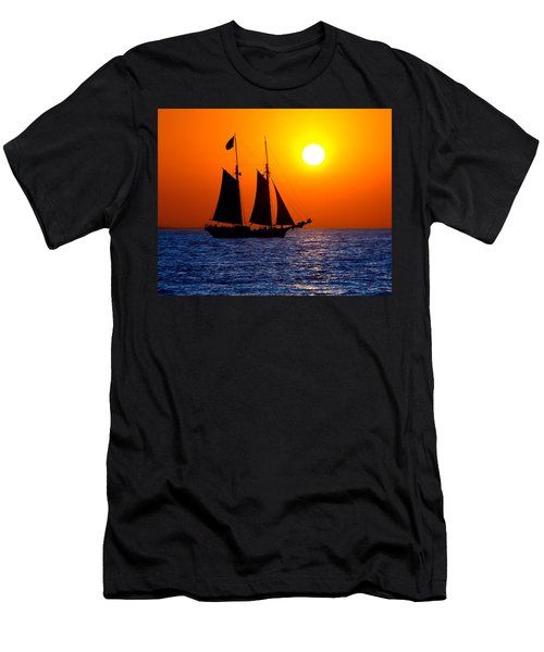 Sunset Sailing In Key West Florida Men's T-Shirt (Athletic Fit)