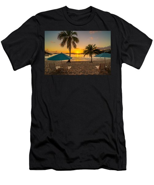 Sunset Secret Harbor Men's T-Shirt (Athletic Fit)