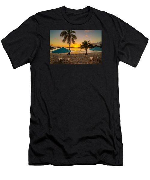 Sunset Secret Harbor Men's T-Shirt (Athletic Fit)