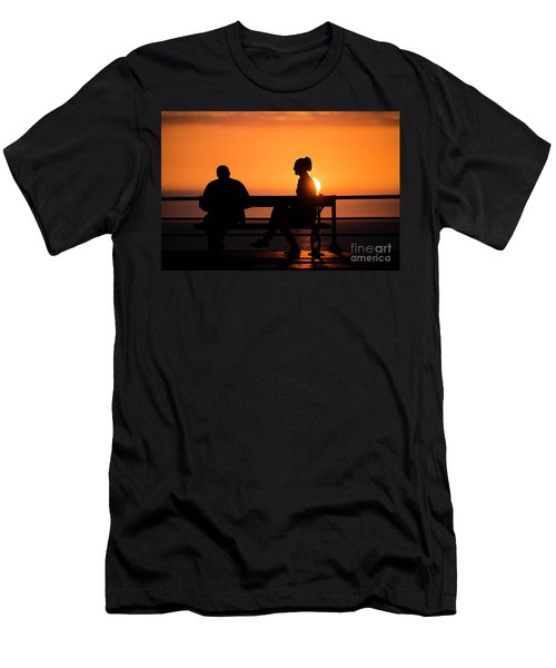 Sunset Silhouettes Men's T-Shirt (Athletic Fit)