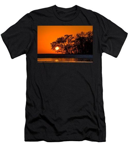 Sunset Sillouette Men's T-Shirt (Athletic Fit)