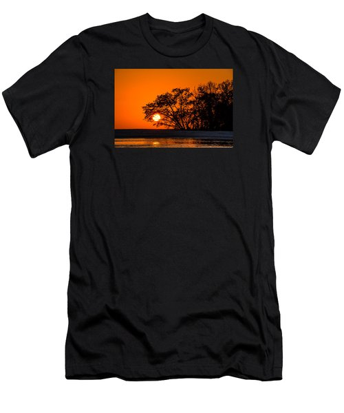 Sunset Sillouette Men's T-Shirt (Athletic Fit)