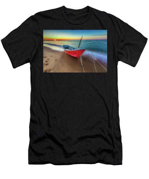 Sunset Skiff Men's T-Shirt (Athletic Fit)