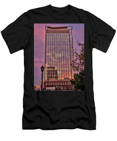 Sunset Skyscraper Men's T-Shirt (Athletic Fit)
