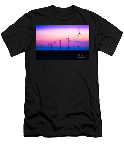 Sunset Spinning Men's T-Shirt (Athletic Fit)