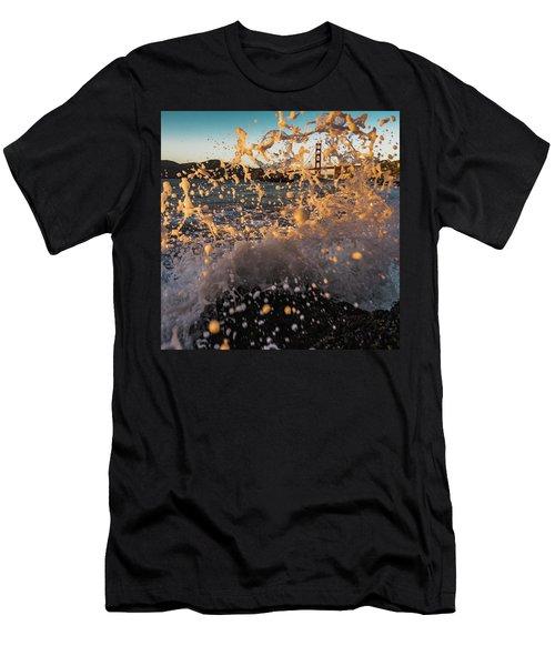 Sunset Splash Men's T-Shirt (Slim Fit) by Alpha Wanderlust