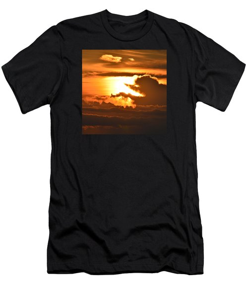 Men's T-Shirt (Slim Fit) featuring the photograph Sunset Storm Clouds 2  by Lyle Crump