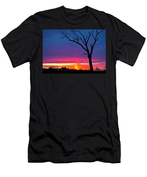 Sunset Sundog  Men's T-Shirt (Slim Fit) by Ricky L Jones