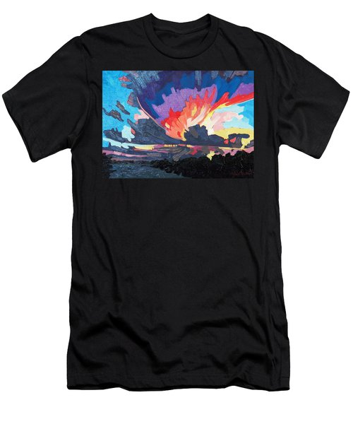 Sunset Supercell Men's T-Shirt (Athletic Fit)
