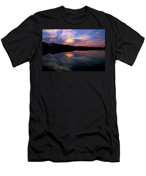 Men's T-Shirt (Slim Fit) featuring the photograph Sunset Swirl by Steve Stuller