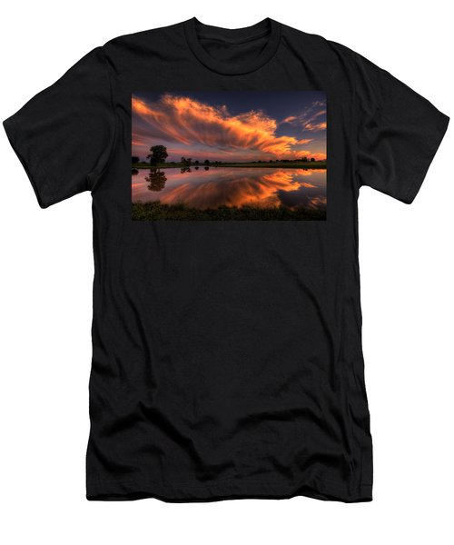 Sunset Symmetry Men's T-Shirt (Athletic Fit)