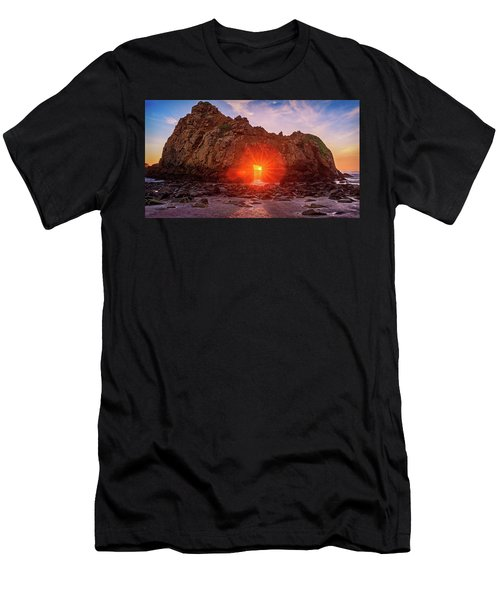 Men's T-Shirt (Athletic Fit) featuring the photograph Sunset Through  by John Hight