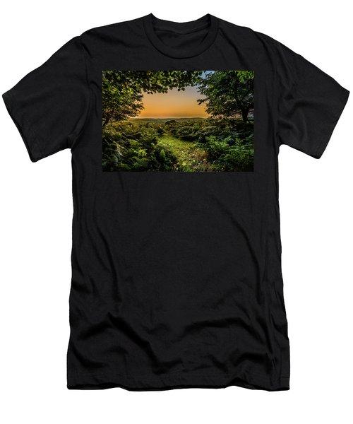Sunset Through Trees Men's T-Shirt (Athletic Fit)