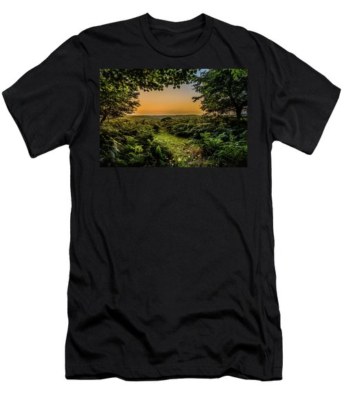 Sunset Through Trees Men's T-Shirt (Athletic Fit)