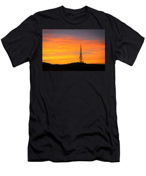 Sunset Tower Men's T-Shirt (Slim Fit) by RKAB Works