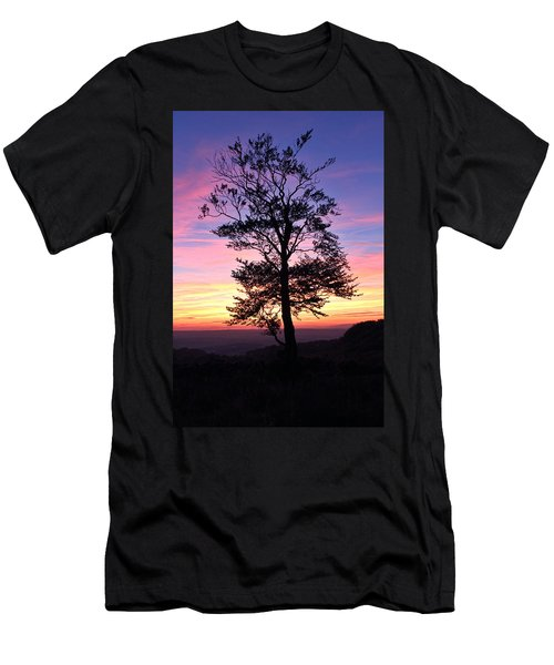 Sunset Tree Men's T-Shirt (Slim Fit) by RKAB Works