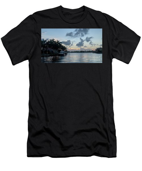 Sunset Tropical Canal Men's T-Shirt (Athletic Fit)