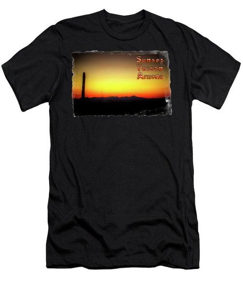 Sunset Tucson Arizona Men's T-Shirt (Athletic Fit)