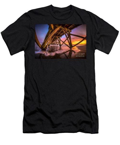 Sunset Under The Pier Men's T-Shirt (Athletic Fit)
