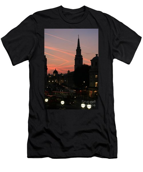 Sunset View From Charing Cross  Men's T-Shirt (Slim Fit)