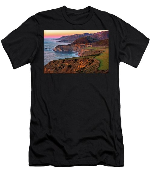 Men's T-Shirt (Athletic Fit) featuring the photograph Sunset View From Hurricane Point by John Hight
