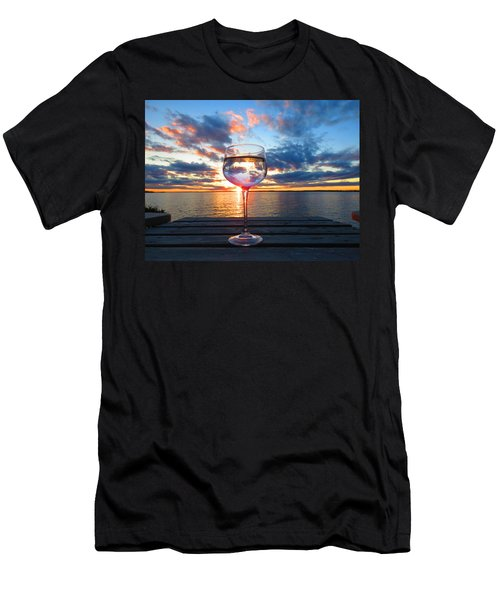 June Sunset On The River Men's T-Shirt (Athletic Fit)