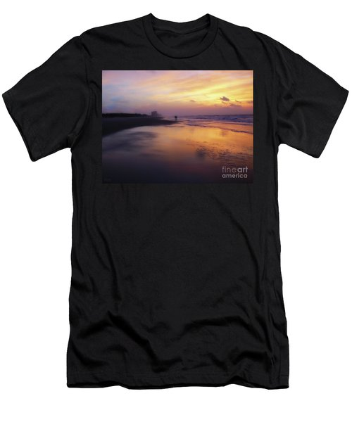 Sunset Walk On Myrtle Beach Men's T-Shirt (Athletic Fit)