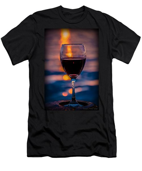 Men's T-Shirt (Athletic Fit) featuring the photograph Sunset Wine by Michaela Preston