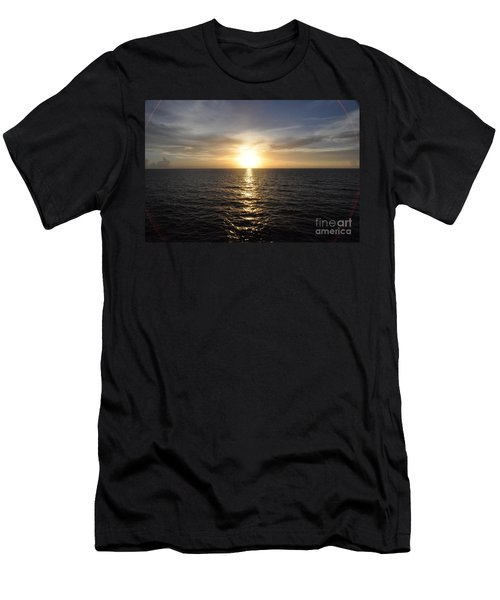 Men's T-Shirt (Slim Fit) featuring the photograph Sunset With Halo by John Black