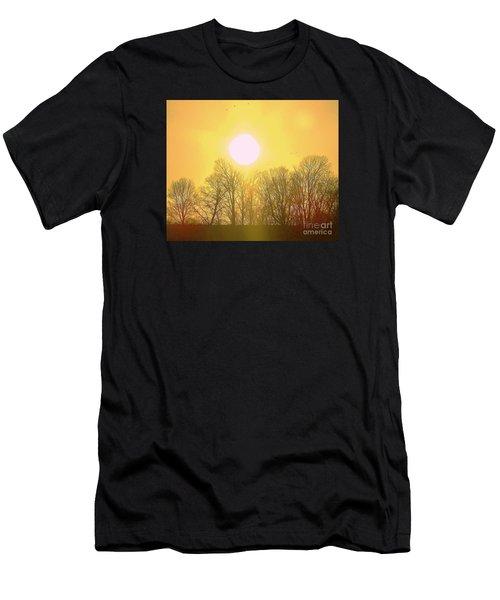 Sunset Yellow Orange Men's T-Shirt (Athletic Fit)