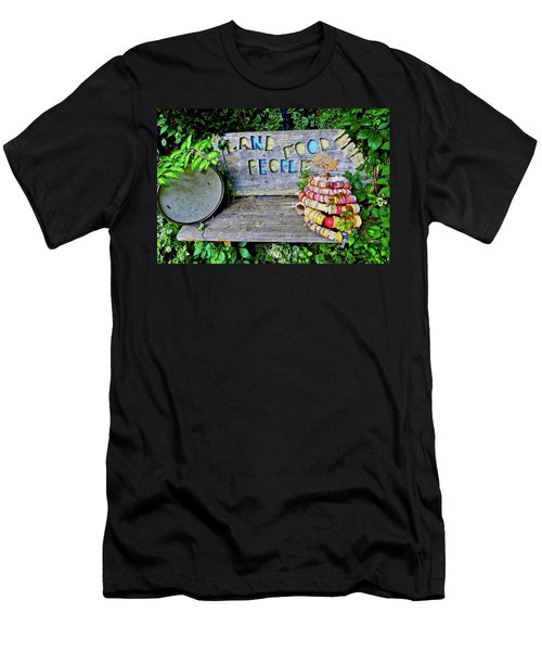 Men's T-Shirt (Athletic Fit) featuring the painting Sunshine Bench by Joan Reese