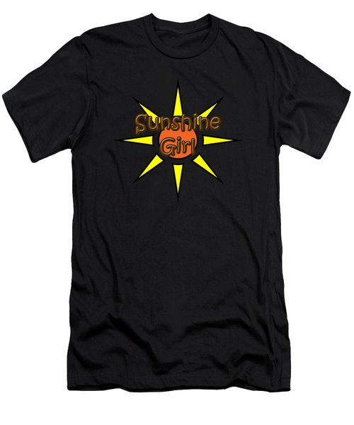 Men's T-Shirt (Athletic Fit) featuring the digital art Sunshine Girl by Judy Hall-Folde