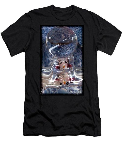 Sunshine Melts A Snowman's Heart Men's T-Shirt (Slim Fit) by Deborah Klubertanz