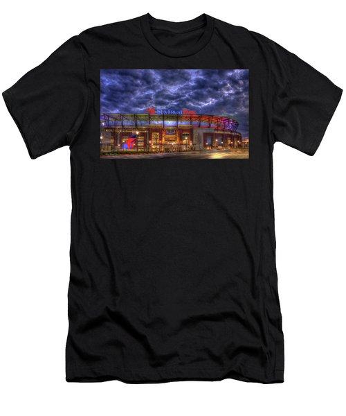 Suntrust Park Unfinished Atlanta Braves Baseball Art Men's T-Shirt (Athletic Fit)