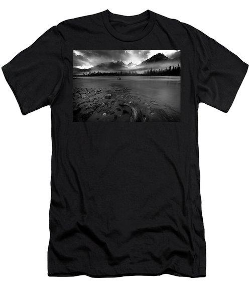 Sunwapta River, Jasper Men's T-Shirt (Athletic Fit)