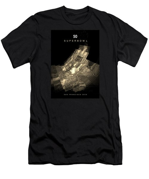 Super Bowl Poster Men's T-Shirt (Athletic Fit)