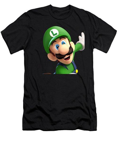 Super Luigi Art Men's T-Shirt (Athletic Fit)